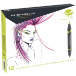 Prismacolor® Double Ended Brush Markers 12-Color Primary/Secondary Set: Multi, Double-Ended, Alcohol-Based, Dye-Based, Brush Nib, (model SN1773297), price per set