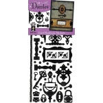 "Dazzles™ Stickers Hardware Black: Black/Gray, 4"" x 9"", Flat, (model HOTP1912), price per each"