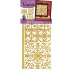"Dazzles™ Stickers Quilt Blocks Gold: Metallic, 4"" x 9"", Flat, (model HOTP1914), price per each"
