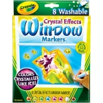 Crayola® Crystal Effects Window Markers: Multi, Washable, (model 58-8174), price per set