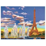 "Reeves™ Large Painting by Number Eiffel Tower; Board Size: 12"" x 15 1/2""; (model PL93), price per each"
