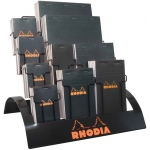 "Rhodia Sketch/Memo Pad Display; Color: White/Ivory; Format: Pad; Grid Size/Pattern: 5"" x 5"", Various; Quantity: 80 Sheets; Size: Multi; Weight: 20 lb; (model RB26D), price per each"
