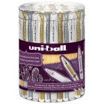 Uni-Ball® Signo Pen Display; Color: Metallic, White/Ivory; Ink Type: Gel; Tip Size: 1mm; (model SN153D), price per each