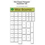 Wee Scapes™ Small Planogram 3ft x 48in; Size: 3' x 4'; Type: Assorted; (model WS100D), price per each
