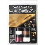 Mona Lisa™ Metal Leaf™ Starter Gold Kit: Blister-carded, Metallic, Sheet, 6 Sheets, (model ML12204), price per kit