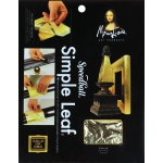 "Mona Lisa™ Simple Leaf™ Gold Sheets: Metallic, Sheet, 18 Sheets, 5 1/2"" x 5 1/2"", (model ML10030), price per 18 Sheets"