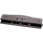 Alvin® 3-Hole Paper Punch; Capacity: 12 Sheets; Holes: Three, Two; (model 00780), price per each