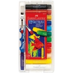 Faber-Castell® Gel Sticks 12-Color Set with Brush; Color: Multi; Format: Stick; (model FC14543), price per set