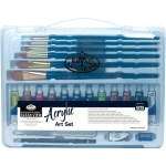 Royal & Langnickel® Essentials™ Clear View Acrylic Painting Set: Multi, Acrylic, (model RSET-ART3202), price per set