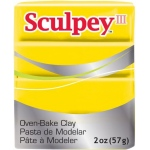 Sculpey® III Polymer Clay Yellow: Yellow, Bar, Polymer, 2 oz, (model S302072), price per each