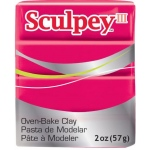 Sculpey® III Polymer Clay Red: Red/Pink, Bar, Polymer, 2 oz, (model S302083), price per each
