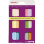 Sculpey® III Polymer Clay 12-Color Pearl & Pastel Set: Multi, Bar, Polymer, 1 oz, Oven Bake, (model S3VMP12), price per set