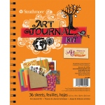 "Strathmore® Orange Art Journal Kit; Binding: Wire Bound; Color: Orange; Format: Journal; Quantity: 36 Sheets; Size: 6 1/2"" x 8""; (model ST27-904), price per each"