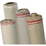 "Fredrix® PRO Series Oil Primed Linen Canvas Roll 92"" x 6 yds: White/Ivory, Roll, Linen, 92"" x 6 yd, Oil, Primed, (model T1012T), price per roll"