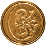"Manuscript Initial Ceramic Mini Seal C; Shape: Round; Size: 3/4""; (model MSH725C), price per each"