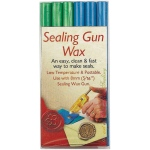 "Manuscript Sealing Gun Wax Blue Green; Color: Blue, Green; Size: 5/16""; Type: Wax Stick; (model MSH7616BG), price per pack"