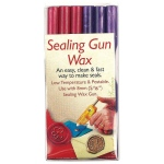 "Manuscript Sealing Gun Wax Pink Purple; Color: Purple, Red/Pink; Size: 5/16""; Type: Wax Stick; (model MSH7616PP), price per pack"