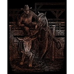 "Royal & Langnickel® Engraving Art Set Copper Rodeo; Board Size: 8"" x 10""; Color: Metallic; (model COPF29), price per set"