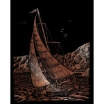 "Royal & Langnickel® Engraving Art Set Copper Sailing: 8"" x 10"", Metallic, (model COPF30), price per set"