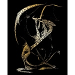 "Royal & Langnickel® Engraving Art Set Gold 3 Headed Dragon: 8"" x 10"", Metallic, (model GOLF26), price per set"