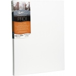 """Fredrix® PRO Dixie 12 x 24 Stretched Canvas Standard Bar 7/8"""": White/Ivory, Sheet, Cotton, 12"""" x 24"""", Standard 7/8"""", Stretched, (model T49011), price per each"""
