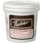 Fredrix Sizing and Priming: Texturing Gel, Quart
