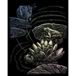 "Royal & Langnickel® Engraving Art Set Frog Pond; Board Size: 8"" x 10""; Color: Metallic; (model HOLO23), price per set"