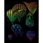 "Royal & Langnickel® Engraving Art Set Rainbow Hot Air Balloon; Board Size: 8"" x 10""; Color: Multi; (model RAIN23), price per set"