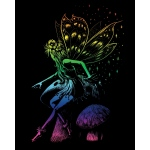 "Royal & Langnickel® Engraving Art Set Rainbow Fairy Princess; Board Size: 8"" x 10""; Color: Multi; (model RAIN22), price per set"