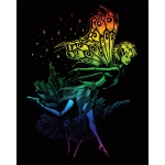 "Royal & Langnickel® Engraving Art Set Rainbow Fairy; Board Size: 8"" x 10""; Color: Multi; (model RAIN21), price per set"