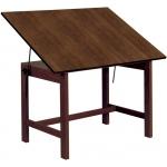 "Alvin® Titan Solid Oak Table Walnut Finish 36"" x 48"" x 30"": 0 - 45, Brown, Oak, 30"", Brown, Melamine, 36"" x 48"", (model WOB48-WA), price per each"