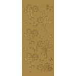 "Blue Hills Studio™ DesignLines™ Outline Stickers Gold #11: Metallic, 4"" x 9"", Outline, (model BHS-DL011), price per pack"