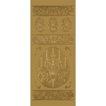 "Blue Hills Studio™ DesignLines™ Outline Stickers Gold #15: Metallic, 4"" x 9"", Outline, (model BHS-DL015), price per pack"