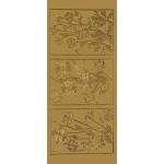 "Blue Hills Studio™ DesignLines™ Outline Stickers Gold #17: Metallic, 4"" x 9"", Outline, (model BHS-DL017), price per pack"