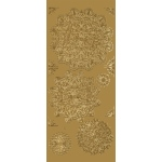 "Blue Hills Studio™ DesignLines™ Outline Stickers Gold #25: Metallic, 4"" x 9"", Outline, (model BHS-DL025), price per pack"