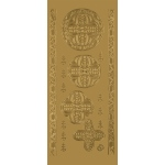 "Blue Hills Studio™ DesignLines™ Outline Stickers Gold #27: Metallic, 4"" x 9"", Outline, (model BHS-DL027), price per pack"