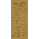 "Blue Hills Studio™ DesignLines™ Outline Stickers Gold #7: Metallic, 4"" x 9"", Outline, (model BHS-DL007), price per pack"