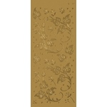 "Blue Hills Studio™ DesignLines™ Outline Stickers Gold #9: Metallic, 4"" x 9"", Outline, (model BHS-DL009), price per pack"