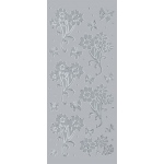 "Blue Hills Studio DesignLines Outline Sticker: Silver #12, 4"" x 9"", Pack of 2"