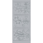 "Blue Hills Studio™ DesignLines™ Outline Stickers Silver #18; Color: Metallic; Size: 4"" x 9""; Type: Outline; (model BHS-DL018), price per pack"