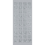 "Blue Hills Studio™ DesignLines™ Outline Stickers Silver #22; Color: Metallic; Size: 4"" x 9""; Type: Outline; (model BHS-DL022), price per pack"