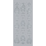 "Blue Hills Studio™ DesignLines™ Outline Stickers Silver #24: Metallic, 4"" x 9"", Outline, (model BHS-DL024), price per pack"