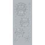 "Blue Hills Studio™ DesignLines™ Outline Stickers Silver #32; Color: Metallic; Size: 4"" x 9""; Type: Outline; (model BHS-DL032), price per pack"