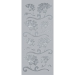 "Blue Hills Studio™ DesignLines™ Outline Stickers Silver #8; Color: Metallic; Size: 4"" x 9""; Type: Outline; (model BHS-DL008), price per pack"