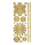 "Dazzles™ Stickers Gold Medallion: Metallic, 4"" x 9"", Outline, (model HOTP1839), price per each"