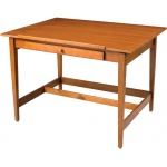"Alvin® Vanguard™ Drawing Room Table 36"" x 48"": 0 - 25, Brown, Rubber Wood, 17""l x 27""w x 1 1/2""h, 33 1/3"", Brown, Rubber Wood, 36"" x 48"", (model VAN48), price per each"