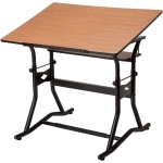 "Alvin® CraftMaster™ III Drafting Drawing and Art Table Black Base Cherry Top30"" x 42""; Angle Adjustment Range: 0 - 30; Base Color: Black/Gray; Base Material: Steel; Height Range: 35"" - 39 1/2""; Top Color: Brown; Top Material: Wood; Top Size: 30"" x 42""; (model CM50-3-WBR), price per each"