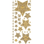 "Dazzles™ Stickers Gold Stacked Star: Metallic, 4"" x 9"", Outline, (model HOTP1831), price per each"
