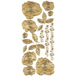 "Dazzles™ Stickers Gold Stacked Rose: Metallic, 4"" x 9"", Outline, (model HOTP1830), price per each"