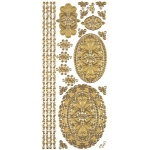 "Dazzles™ Stickers Gold Stacked Oval: Metallic, 4"" x 9"", Outline, (model HOTP1833), price per each"